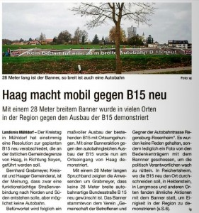 12112014 Banner in Haag - Intelligenzblatt