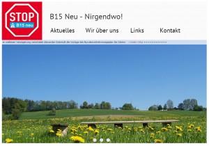 Erdinger aufgepasst: Die Website der BI Erding ist online www.b15neu-nirgendwo.de